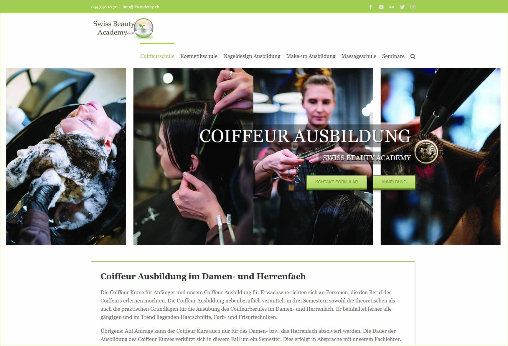 Swiss Beauty Academy: Coiffeur Ausbildung