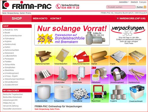 Frima-Pac: Verpackungsmaterial praktisch und einfach online bestellen